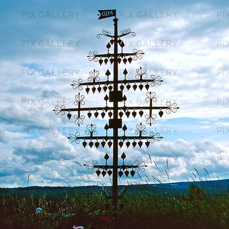 Järnkors på kyrkogård, Värmland