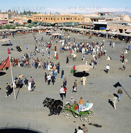 Jemma El-Fna i Marrakesh, Marocko
