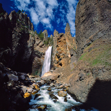 Tower Falls i Wyoming, USA
