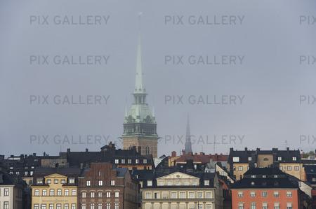 Gamla stan i dimma, Stockholm