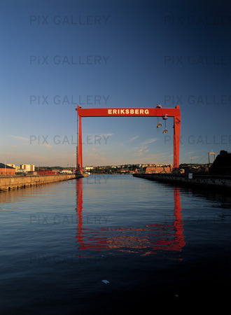 Eriksbergskranen i Göteborg hamn