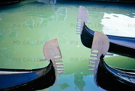Gondoler i Venedig, Italien