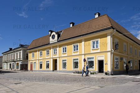 Byggnader vid Stora torget i Arboga, Västmanland