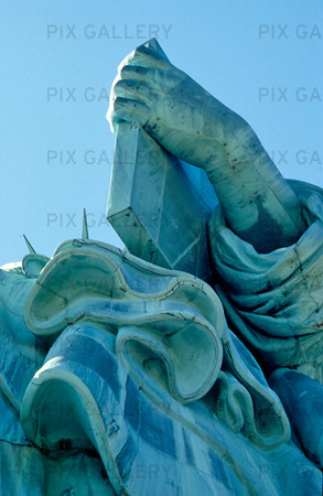 Detalj av Frihetsgudinnan i New York, USA
