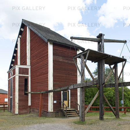 Creutz hjulhus Falu gruva, Dalarna