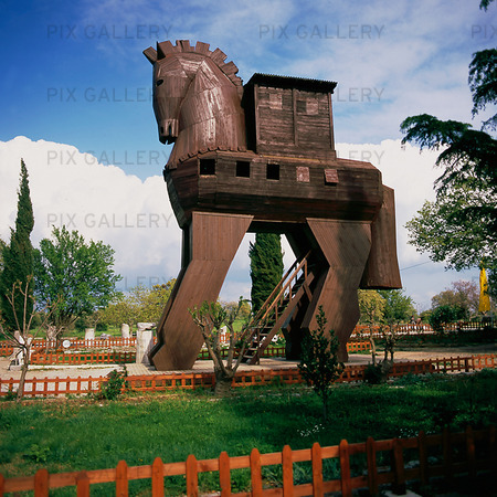 The Trojan horse at Troy, Turkey