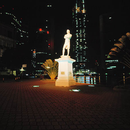 Sir Stamford Raffles staty, Singapore