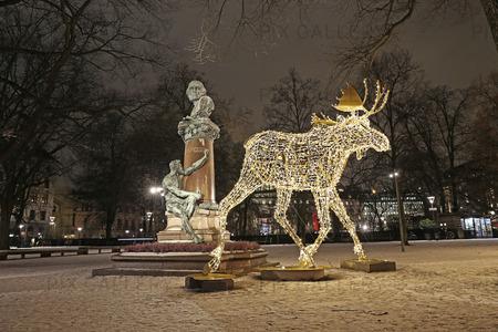 Älgar i Berzelii park, Stockholm