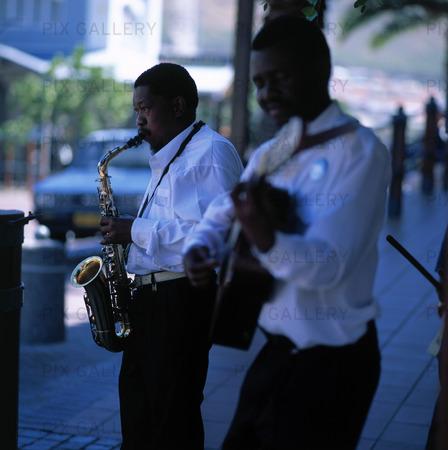 Gatumusikanter i Kapstaden, Sydafrika