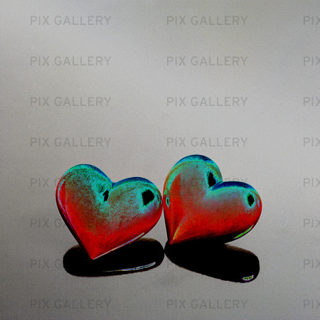 Idèbild hjärtan  (solariserad)