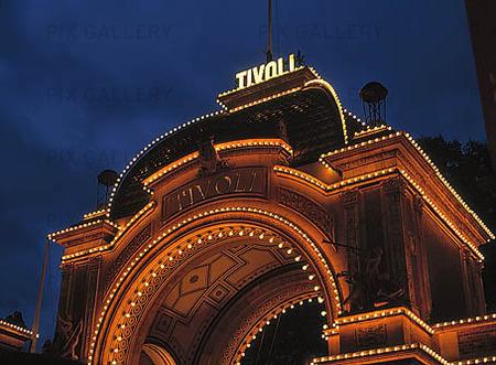Tivoli i Köpenhamn, Danmark