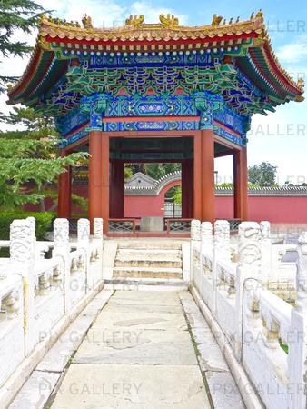 Pavilion i Den förbjudna staden i Peking, Kina