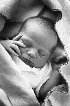 Nyfött barn på BB