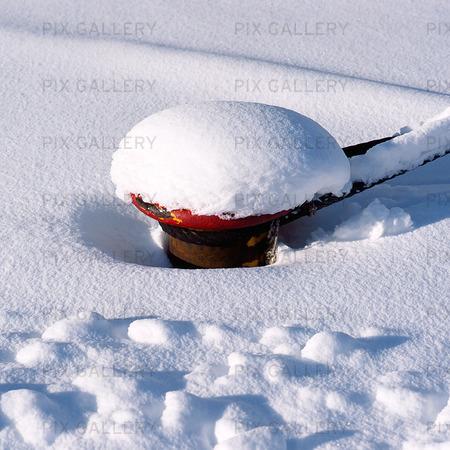 Förtöjning i snö