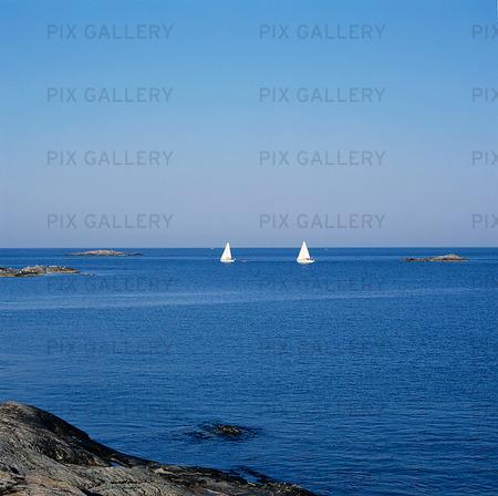 Segelbåtar på havet