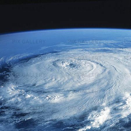 Satellitbild på orkan