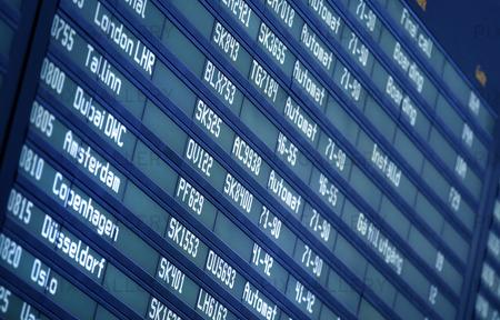 Flygplats Info Panel