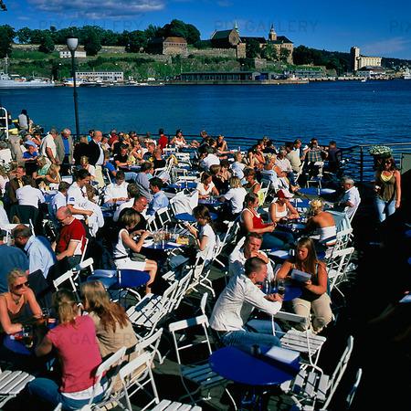 Akers Brygge i Oslo, Norge