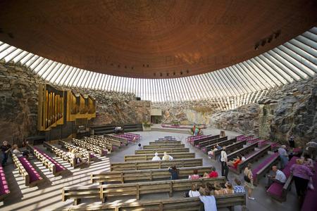 Tempelplatsens kyrka i Helsingfors, Finland