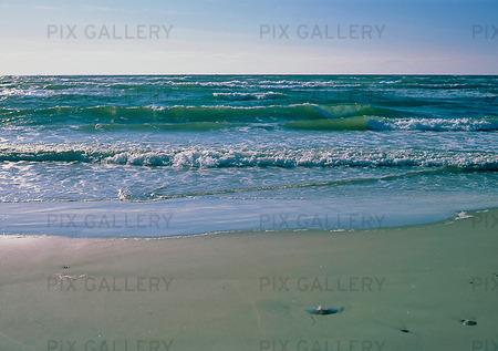 Vågor vid strand