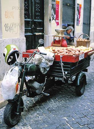 Motorcykel i Lissabon, Portugal