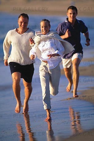 Kompisar på strand