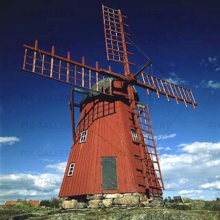 Väderkvarn vid Mollösund, Bohuslän
