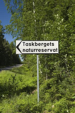 Vägskylt Taskberget, Hälsingland