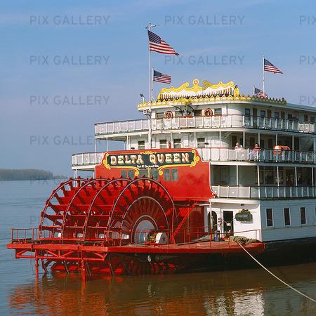 Hjulångare i New Orleans, USA