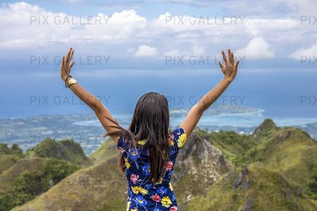 Kvinna på  Cebu Island, Filippinerna