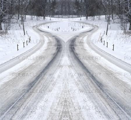 Vinterväg, manupulerad bild