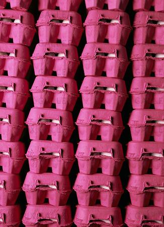 Rosa äggkartonger