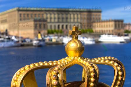 Krona på Skeppsholmsbron, Stockholm