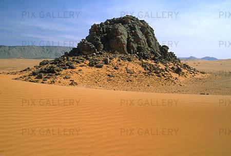 Berg i öken, Algeriet