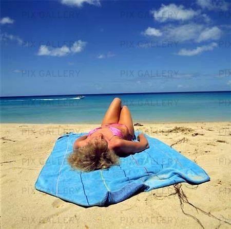 Kvinna på Barbados