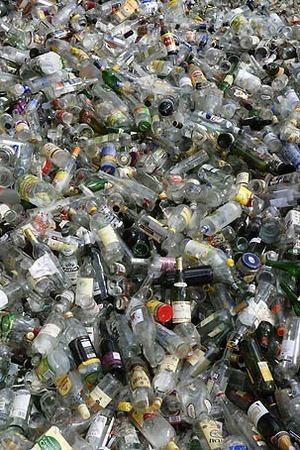 Glas för återvinning
