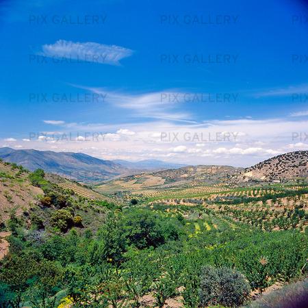 Landskap i Aragon, Spanien