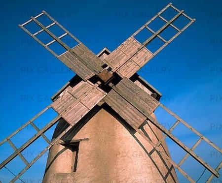 Väderkvarn på Fårö,  Gotland