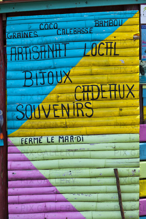 Fasad på kiosk, Martinique