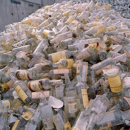 Ofärgat glas för återvinning