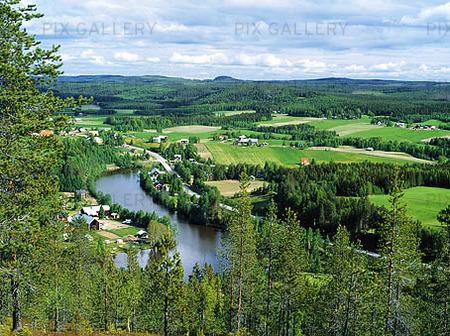 Vy vid Ägnäs, Västerbotten