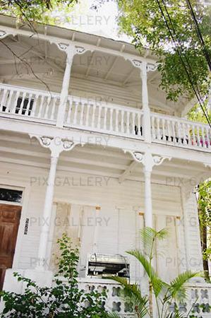 Husfasad i Key West, USA