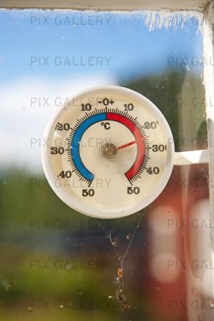 Termometer, 25 grader varmt