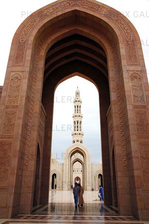 Qaboos moské i Muscat, Oman