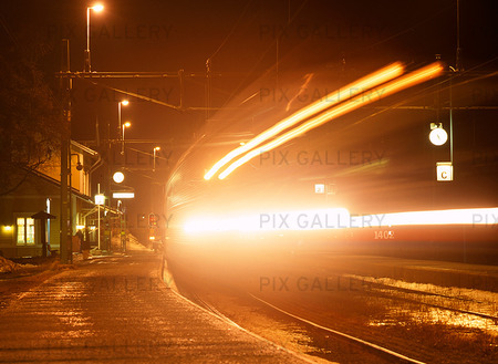 Tåg vid Åre station, Jämtland