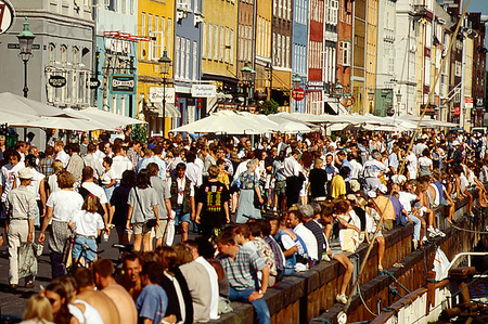 Folkliv i Nyhavn, Köpenhamn