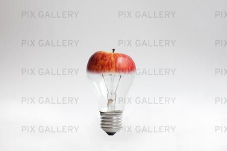 Glödlampa med äppeltopp