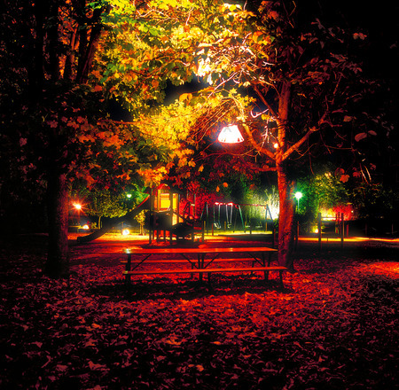 Belysning i lekpark