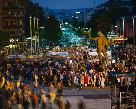 Demonstration på Götaplatsen, Göteborg