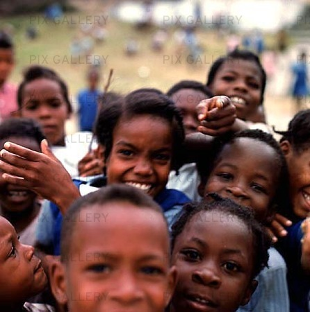 Skolbarn på Trinidad